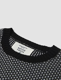 Native Youth Pin Tuck Stitch Sweatshirt - Black