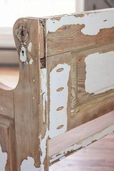 Old Door New Bench & Old Door New Bench   Rustic bench Wood doors and Bench