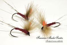 Montajes para la Trucha – Pescando a Mosca Fly Fishing Lures, Gone Fishing, Mayfly, Fly Tying Patterns, Hair Accessories, Fly Fishing Flies, Fishing Tricks, Homemade Fishing Lures, Fish Hook