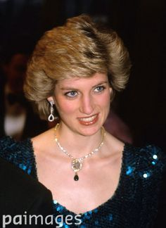 July 5, 1989: Princess Diana at the 10th Anniversary of the London Ballet.