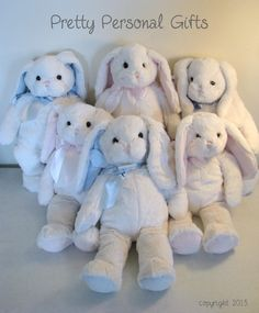 Personalized Stuffed Bunny  Great Easter by PrettyPersonalGifts, $25.00, for all 3 babies.