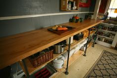 Whittled Down Life: DIY Black Pipe Kitchen Counter