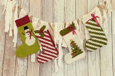 Crochet Stockings Christmas Stockings by TenderMomentsCrochet, $50.00