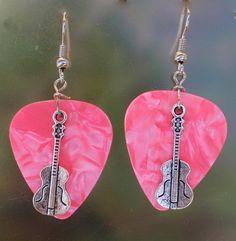 Violin Earrings Musician Guitar Pick by CraftyCutiesbyDesign, $5.95