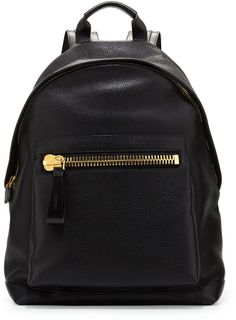 Tom Ford Men's Leather Wide-Zip Backpack, Black - #ad