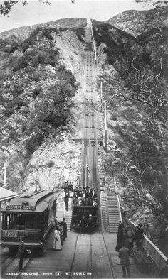Lowe Railway, San Gabriel Mountains above Altadena, 1893 California History, Vintage California, California Love, Southern California, California Living, California Travel, San Gabriel Mountains, San Gabriel Valley, Altadena California