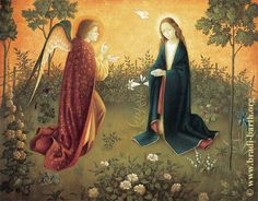 The angel of the Lord declared unto Mary and she conceived of the Holy Spirit