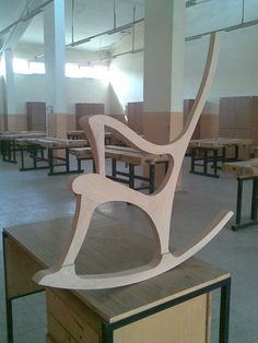 School project. Rocking Chair wooden