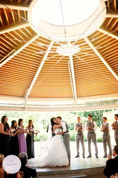 Covered outdoor ceremony venue: Celebration Pavilion in Queen Elizabeth Park. Photography by Will Pursell Photography, as seen on BRIDE. Outdoor Pavillion, Queen Elizabeth Park, Seasons Restaurant, Indoor Ceremony, Places To Get Married, Instagram Wedding, Best Wedding Venues, Rustic Elegance, Here Comes The Bride