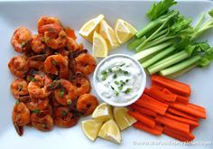 The Foodie Physician: Dining with the Doc: Super Bowl Snacks homemade blue cheese dressing Buffalo shrimp