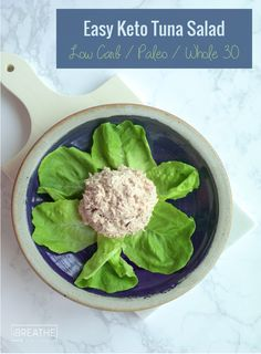 This easy keto tuna salad recipe can be made in literally 2 minutes with no chopping involved! Kid friendly, low carb, atkins, paleo, whole 30, dairy free