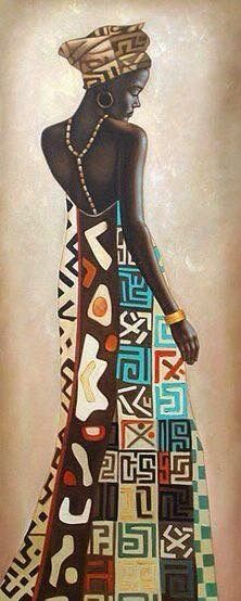 Kunst Bilder ideen - Femme Africaine III by Jacques Leconte - Beste Art Pins Black Girl Art, Black Women Art, Art Girl, African American Art, African Women, Afrique Art, African Art Paintings, Black Artwork, African Culture