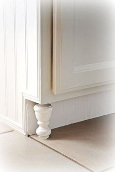 DIY Cabinet Feet: At the Picket Fence