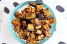 Πικάντικοι ψητοί κύβοι μελιτζάνας - μικρή κουζίνα