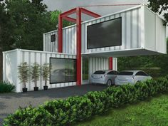 Container House - Casa Container: Casas industriais por eduardopetry - Who Else Wants Simple Step-By-Step Plans To Design And Build A Container Home From Scratch? Sea Container Homes, Storage Container Homes, Building A Container Home, Container Cabin, Container House Plans, Container House Design, 40 Container, Container Architecture, Container Buildings