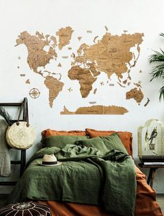 Office wooden World Map by WoodPecStudio. Travel push pin maps for wall office decor, bedroom and living room rustic decor, hallway decoration. World maps from wood for wall decor in farmhouse style. Push Pin World Map, World Map Wall Art, Map Wall Art, Anniversary Gift, Wooden Travel Push Pin Map, Housewarming Gift #mapdecor #artwork #art