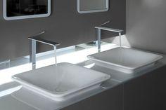 42003 GESSI iSPA Built In Basin Ceramic | 41793 GESSI iSPA Mirror | 41003 GESSI iSPA High Basin Mixer #bathroomtapware