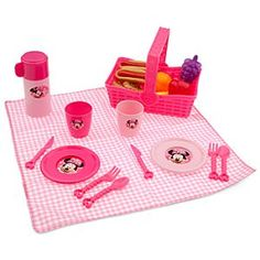 @Cathy Barclay  Barclay Disney Minnie Mouse Picnic Play Set | Disney StoreMinnie Mouse Picnic Play Set - Pack your basket for a sunny day of picnic play with Minnie's 24-piece fun food and picnicware set, complete with all you need to enjoy an imaginary outdoor feast for two. $6