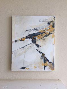 « Sans titre »  Peinture acrylique abstraite originale sur toile.  Dimensions : 14 « x 18 »  * Toutes les peintures ont été finis avec vernis brillant pour prévenir contre la décoloration. Prêt à afficher.