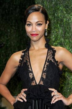 Zoe Saldana | 15 Celebrities Who Give You Reason To Love Your Small Boobs