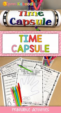 This time capsule product can be used for the beginning of the year, New Years, or the end of the school year and is perfect for any elementary student.  The no prep printables are engaging and fun for students, but will be even more amazing when they wait to reread all the tidbits of information from their current perspective and time!  Teacher and parent friendly and student approved... your students will love it! #ParentingTeacher