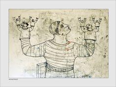 Monoprint by Pawel Krol Printing, Wall, Inspiration, Biblical Inspiration, Stamping, Inhalation