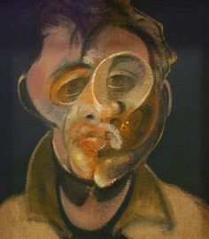 This is one of the most craziest self-portraits ever by Francis Bacon. The weird shapes he puts together to make a face is a mental composition. This craziness may reflect on himself or he may just have made one of the weirdest paintings.