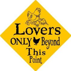 CHICKEN LOVER ALUMINUM SIGN