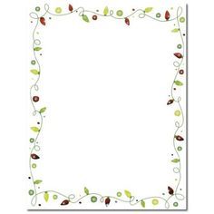 String of Lights Holiday Stationery Sheets – Sophie's Favors and Gifts