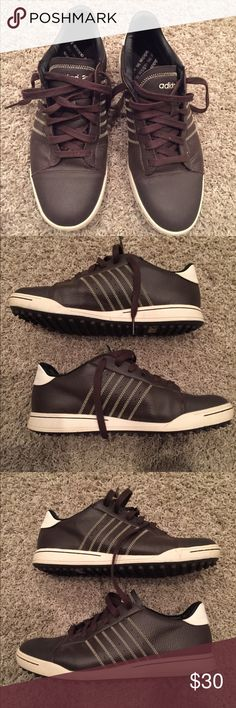 Adidas Golf Shoes Men US size 9.5 - Only worn once Once worn Adidas Brown Golf Shoes US size 9.5 adidas Shoes Athletic Shoes