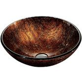 Found it at Wayfair - Kenyan Twilight Above The Counter Tempered Glass Vessel Sink Hall bath. $88