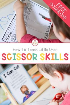 An important skill to teach little ones are scissor skills. Teaching them the correct way of using scissors not only helps with fine motor skills, but also teaches them how to be safe with them. Grab this free scissor skill freebie for your classroom or homeschool activities. #scissorskills #preschoolskills #preschool #kindergarten #kindergartenskills
