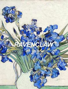 ravenclaw shared by chiara on We Heart It Ravenclaw, Slytherin House, Hogwarts Crest, Hogwarts Houses, Van Gogh Flower Paintings, Rose Thorns, Indie, Harry Potter Wallpaper, Harry Potter Aesthetic