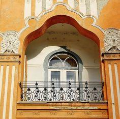 Balcony Hungary    of Art Nouveau Peacock House.