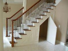 Under Stairs Storage Design Ideas Maximizing Small Spaces Under the Stairs Storage Small Space Stairs, Maximize Small Space, Small Spaces, Door Under Stairs, Basement Stairs, Cupboard Under The Stairs, Basement Ideas, Stairs Kitchen, Staircase Storage