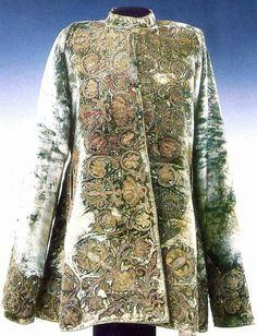 Hungarian Coat, from Magyar Nemzeti Muzeum, Helikon Kiado, foto Dabasi Andras Historical Costume, Historical Clothing, Art Costume, Folk Costume, Costumes, Mens Garb, Bohemian Culture, 17th Century Clothing, Court Dresses