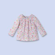Liberty print collar blouse   for baby, girl