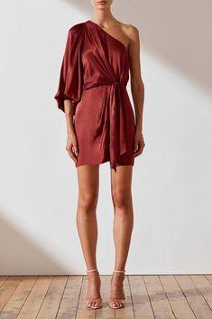 Joan One Shoulder Mini Dress Ny Dress, Dress Skirt, Looks Chic, Short Dresses, Formal Dresses, Fashion Killa, Minimalist Fashion, Ready To Wear, Party Dress