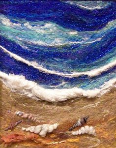 Sea shore. Needle felting  Could do a sky picture like this . . . how I love clouds!!!