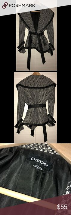 🎉🎉SALE🎉🎉Bebe Jacket Bebe Jacket, elegant and in good condition. Worn maybe twice. bebe Jackets & Coats