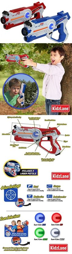 Laser Tag 168245: Kidzlane Laser Tag Game - Set Of 2 Blue Red - Laser Gun Indoor And Outdoor -> BUY IT NOW ONLY: $82.99 on eBay!
