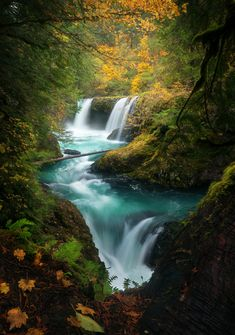 Last spring I posted a photo of Spirit Falls a beautiful waterfall on the Washington side of the Columbia River Gorge which you all seemed to really enjoy  heres what it looks like in fall! [OC] [8431200] #reddit