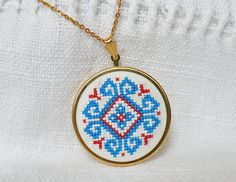 Lovely embroidered necklace