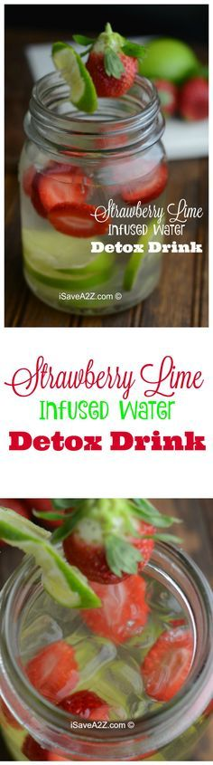 Strawberry Lime Infused Water Detox Drink - iSaveA2Z.com