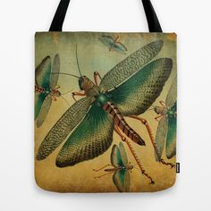 Vintage Grasshopper Tote