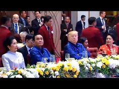 Vietnam APEC Summit 2017. Dinner. Nov 10. Pres Trump Participates In An Official Welcome