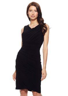 On ideeli: ADRIANNA PAPELL Sleeveless Asymmetrical Tuck Dress
