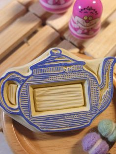 Hand Carved Teapot Stamp. Lovely design!