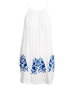 a9ac3edd83 Blue Island White Embroidered Sleeveless Cover-Up. Peaches Martinez · beach  wear