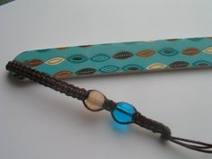 Macrame bookmark and nailfile by LeeliaDesigns on Etsy, $2.00